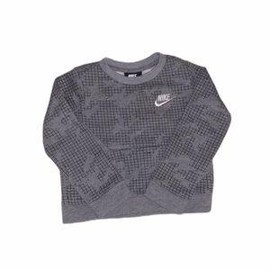 Nike 3T toddler sweatshirt, grey/black